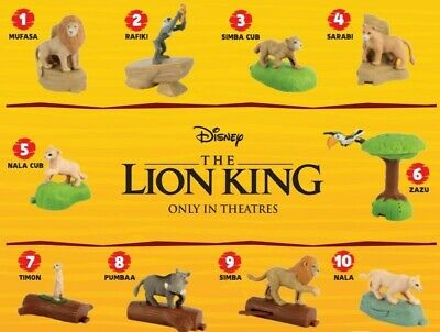 Pick Ur Favorite McDonald's 2019 Lion King Happy Meal Toys New Super Fast Ship