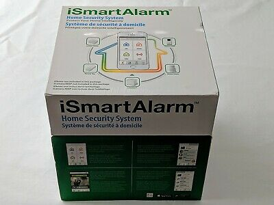 iSmartAlarm iSA3 Preferred Home Security Package, White Used With Box + Extras
