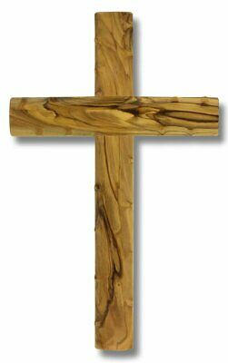 Genuine Bethlehem Olive Wood Knotted Wall Cross 10-1/4""
