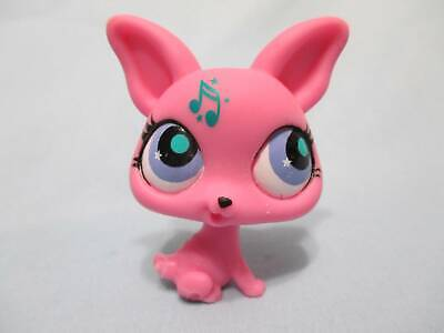 Littlest Pet Shop Retired Pink Chihuahua Puppy Dog Music Note 2867 Authentic