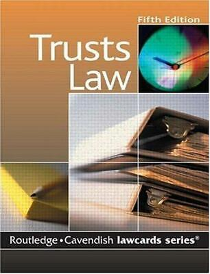Cavendish: Trusts Lawcards, Routledge, Good Condition Book, ISBN 1845680294