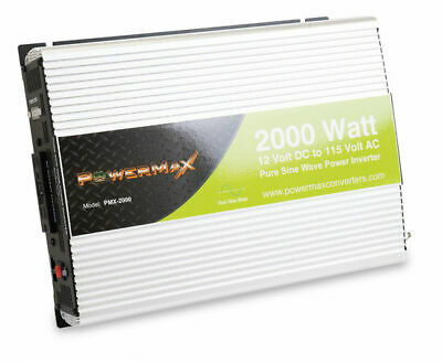 Install Bay PMX-2000 2000W Pure Sine Wave 12VDC to 120V AC Inverter