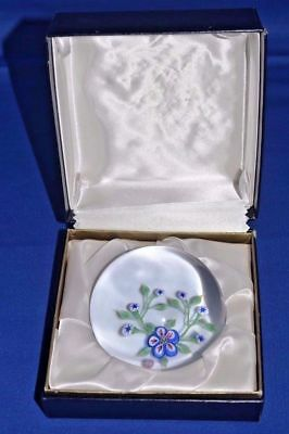 """Baccarat France Glass Crystal Paperweight 1971 floral 3 1/4"""" figurine w/ box"""