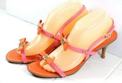 377ac2b2a38 TORY BURCH CECILE Ankle Strap patent-leather Mid Heel Sandals ...