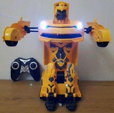 LARGE BUMBLEBEE TRANSFORMERS ROBOT  SENSOR RECHARGEABLE Remote Control Car