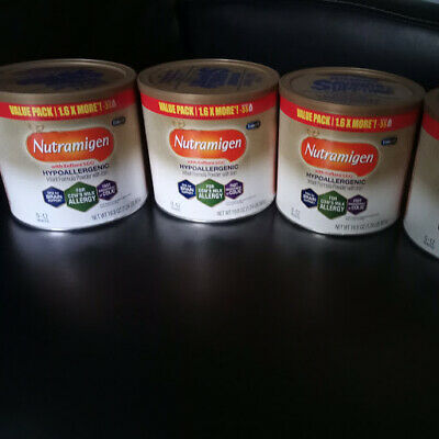 4 Cans Of Nutramigen Enflora LGG Hypoallergenic Infant Formula Powder 19.8 oz