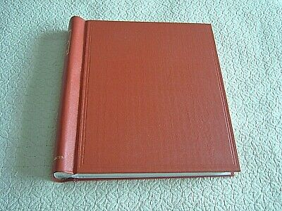 S.g. The 'Utile' Hinged Leaf Album - Red - Gilt Title - Card Insert & 56 Leaves
