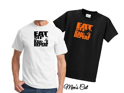 Eat Sleep Karate Repeat T-Shirt / Personalize Colors  XS - 6XL