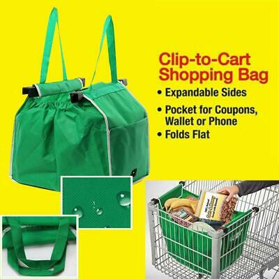 Foldable Supermarket Shopping Bag Large Eco-friendly Reusable Tote Trolley