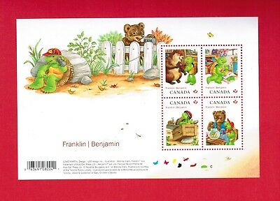 2012 TIMBRES CANADA STAMPS MINI SHEET # 2541 Mn FRANKLIN THE TURTLE    NVB