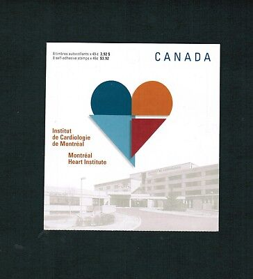 2004 CANADA STAMPS  BOOKLET  BK296  2056a- d   MONTREAL HEART INSTITUTE   JT18