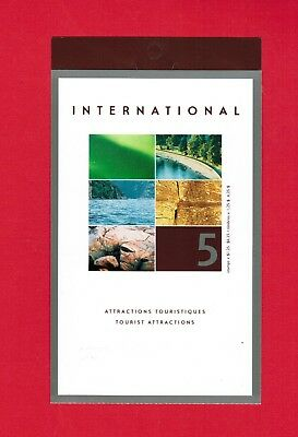 2002 Canada Stamps  Booklet # Bk260  # 1953  Tourist Attractions  Jt18