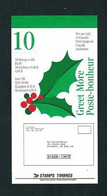 1952  TIMBRES CANADA BOOKLET STAMPS  BK186   # 1588a  CHRISTMAS   DM18