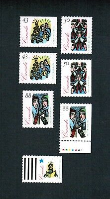 1994 CANADA STAMPS   #  (1533 to 1536) + 1533as  MINT  CHRISTMAS CAROLLING  FR18