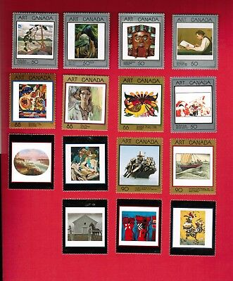 1988  # 1203 ...  Complete Set (15 Mint Stamps Canada ) Of Materpieces Of Art