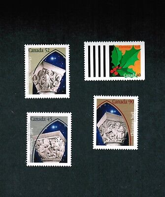 1995  # 1585  to  1588  MINT CANADA STAMPS  CHRISTMAS  - CAPITAL SCULPTURES