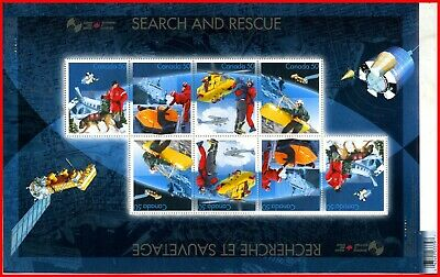 Canada Stamp Mint #2111(2111a-d) - Full Pane of 8 - Search and Rescue (2005)