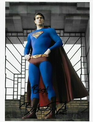 Brandon Routh Superman Returns Autographed Warner Bros 8X10 - Private Signing