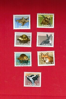 1989 1992   # 1155 to 1161  MINT TIMBRES  CANADA  STAMPS   MAMMALS  MS19