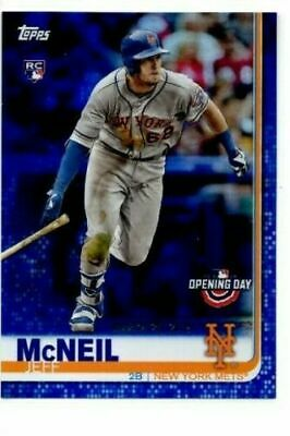 2019 Topps Opening Day Blue Foil #133 Jeff McNeil RC Rookie Card > Mets🔥