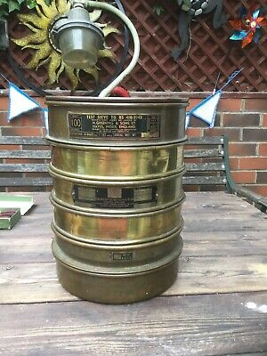 Vintage 1943 Greening & Sons Brass Test Sieves And Others Laboratory Chemist