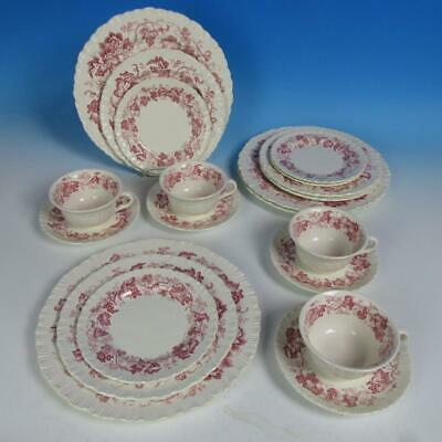 Wedgwood China - Old Vine Crimson - 4 Place Settings - Plates/Cups/Saucers