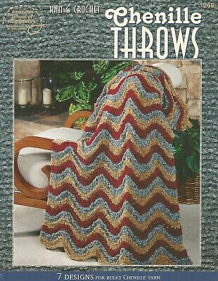 KNIT & CROCHET Chenille Throws 7 Patterns For Bulky Chenille