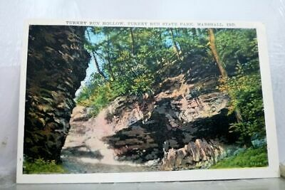 Indiana IN Marshall Turkey Run State Park Hollow Postcard Old Vintage Card View