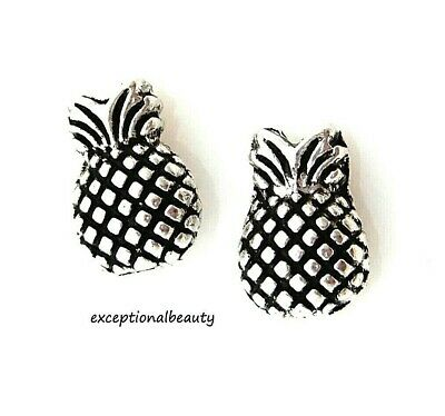 50 Tibetan Silver 13x9mm Two Sided Pineapple Fruit Spacer Accent Metal Beads