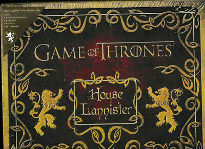 NEW/SEALED:Game Of Thrones House Lannister Deluxe Stationary Set