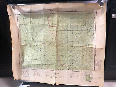Antique Vintage 1951 Map of Gogama Ontario Canada First Edition National Defense
