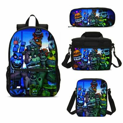 Five Nights at Freddy's Boys Backpack Lunch Bag Small Bag Pen Case Kids Lot