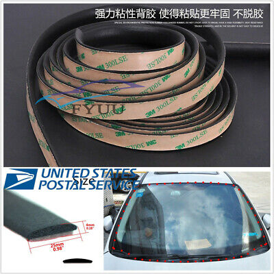 5M Front Rear Windshield Sunroof Triangular Sealed Strips EPDM Rubber