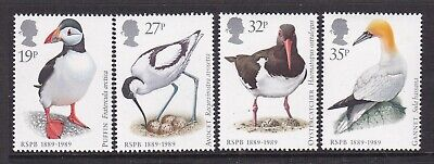 Gb Great Britain 1989 Birds (Rspb) Set Never Hinged Mint