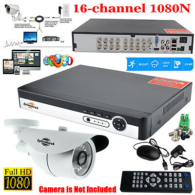 16CH CCTV 5 in 1 DVR HD Digital Video Recorder 1080N Home Security System Kit UK
