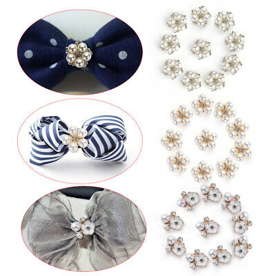 Bow Accessories Scrapbooking DIY pearls Rhinestone Flower sewing button