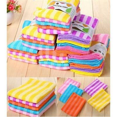 5pcs Absorbent Microfiber Towel Car Home Kitchen Washing Clean Wash Cloth HC