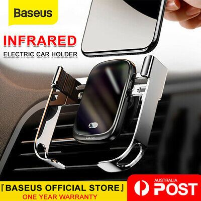 Baseus 10W Wireless Charger Car Air Vent Phone Holder Electric Intelligent Mount