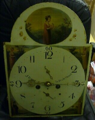 Good Antique 8 Day Longcase Grandfather Clock Movement 19ins By 13.25ins