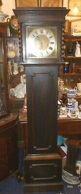 Nice Antique Oak Westminster Chime Longcase Grandfather Clock Full Working Order