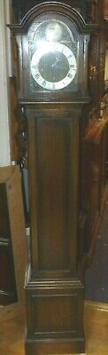 Very Nice Antique Oak Westminster Chime Grandmother Clock In Full Working Order