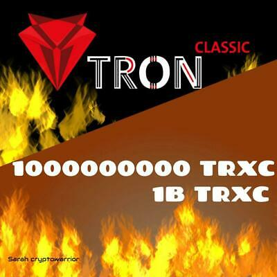 1000000000 TronClassic (TRXC) CRYPTO MINING-CONTRACT (1B TRXC) Crypto Currency