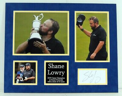 Shane LOWRY Signed & Mounted 20x16 Display 2 AFTAL COA Open Golf Winner 2019