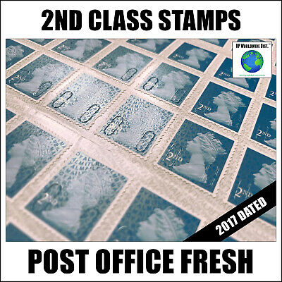 100 x 2nd Class Postage Stamps NEW GENUINE Stamp GB FAST POST Second BIG SALE