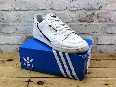Mens Adidas Continental 80 White Leather Sport Active Gym Pumps Trainers Size 10