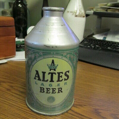 Detroit, Mich. Altes Lager Beer YELLOW OVAL Crowntainer Beer Can USBC #191-01.1