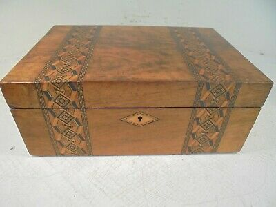 Antique inlaid  Writing Slope , Tunbridge ware type