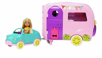 Barbie's Chelsea Camper with Doll and Car Playset