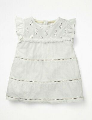 NEW RRP £25 Mini Boden Tropical Broderie Top – White (U10-4)