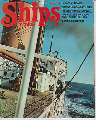 Ships Monthly Magazine January 1975 HMS Renown Whitby Atlantic Greyhounds